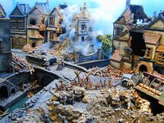 Fantastic ruined buildings for WWII wargaming