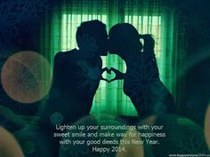 Happy New Year 2014 Romantic Greeting Card