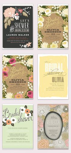 Bridal Shower Invitations - Shower the bride in style.