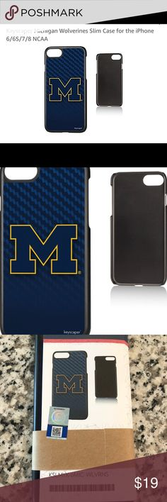 Michigan Wolverines Slim Case iPhone 6/6S/7/8 NCAA The Michigan Wolverines Slim Case for the iPhone 6 / 6S / 7 / 8 adds a layer of protection and charisma to your simple phone without adding bulk. Don't own just another phone, make it yours with this slim case. From pocket to table to night stand, this case will echo you and your Michigan Wolverines love. Designed and printed in Portland, OR, all Keyscaper gear is officially licensed and comes with a one-year warranty against manufacturer's…