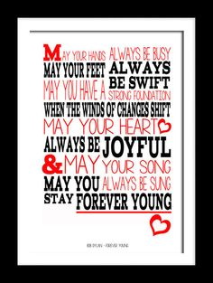 94 best lyric prints canvas images on pinterest lyrics music bob dylan forever young music typography lyric wall art canvas or prints publicscrutiny Choice Image