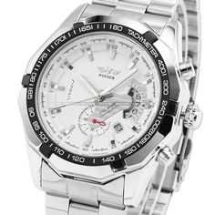 Winner automatic mechanical watch in stainless steel white  The best quality watch for demanding customers made of stainless steel. High quality mineral glass is scratch resistant and the adjustable strap allows you to fit any hand. All this makes the most demanding people happy with the purchase of our elegant watch. https://www.cosmopolitus.com/winner-white-dial-calendar-automatic-mechanical-stainless-steel-p-253854.html?language=en&pID=253854 #mens #watch #winner #stainless #steel…