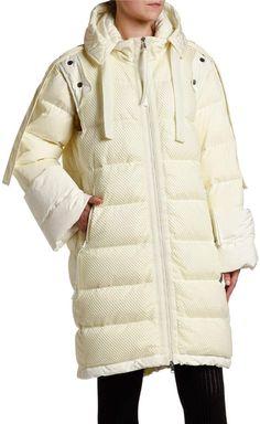 Moncler 2 1952 Narvalong Long Puffer Coat/Vest Combo Long Puffer Coat, Vest Coat, Jackets For Women, Clothes For Women, Faux Fur Vests, Moncler, Neiman Marcus, Cap Sleeves, Winter Jackets