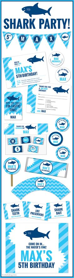 sharkfin banner template - printable shark fin photo booth prop create diy props