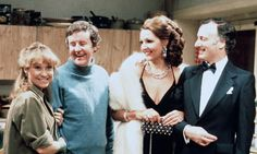 """The Good Life was a British sitcom produced by the BBC. The series was set in Surbiton, southwest London. It starred Richard Briers, Felicity Kendal, Penelope Keith & Paul Eddington. British Tv Comedies, Classic Comedies, British Comedy, English Comedy, British Actors, Penelope Keith, Richard Briers, Felicity Kendal, Life Tv"