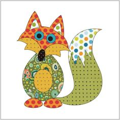 (7) Name: 'Quilting : Applique Add On's - Frisky Fox