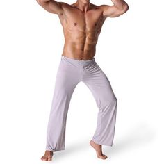 Sexy Yoga Pants Home Soft Breathable Silky Loose Sleepwear Leggings for Men  - Newchic Mobile. eb557cd4c