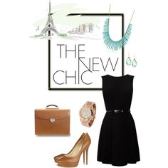 Black with Turquoise/Cognac Accessories