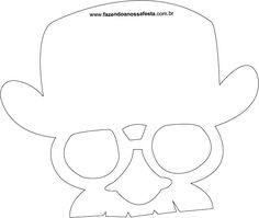 Chapéu, óculos e bigode