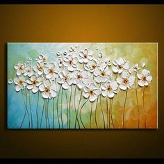 Flower Paintings, Texture Painting, Palette Knife Painting, Acrylic Fl – Paintingforhome