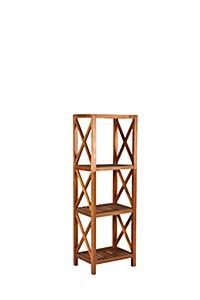 vidaXL Bamboo Shelf 5 Tiers Display Shelving Unit Rack Stand Organizer Storage✓ in Home & Garden, Furniture, Bookcases & Shelving