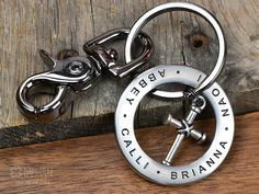 Keychain Personalized Engraved Stainless Steel by MavenMetalsInc