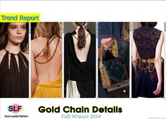 Gold Chain Details #Fashion Trend for Fall Winter 2014 #Fall2014 #Fall2014Trends #FashionTrends2014