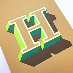 3D Hand-Lettering by James Lewis – Inspiration Grid | Design Inspiration