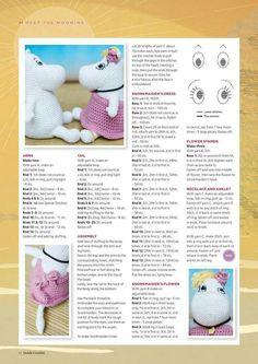 from Inside crochet issue 66 2015 Crochet Hippo, Loom Crochet, Rainbow Crochet, Knit Or Crochet, Crochet Gifts, Crochet Animals, Crochet Applique Patterns Free, Crochet Doll Pattern, Crochet Patterns Amigurumi