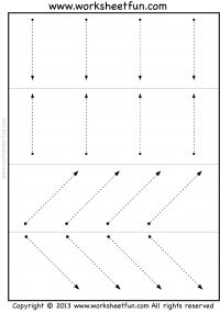 Tracing lines - 3 worksheets