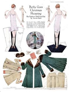 Betty Goes Christmas Shopping by Nandor Honti from McCall Pattern Designs c. 1920s