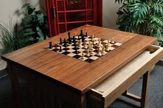 Shop for Chess Tables at US Chess Federation Sales. We offer the widest selection of Chess Tables at the lowest prices with same-day shipping. Chess Board Table, Wood Chess Board, Chess Boxing, Chess Set Unique, Walnut Burl, Wood Square, Chess Pieces, Table Games, Wood