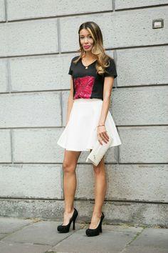 #look #tshirt black paetes #missevolutionclothing