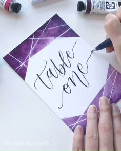 Calligraphy Discover Mark-place inspiration 2019 Weddings and garden parties season are coming! For this occasion we asked the artist Liz to create for you mark-place inspiration with Daniel Smith watercolor. We love the result! Happy Birthday Painting, Watercolor Birthday Cards, Diy Note Cards, Diy Cards, Happy Birthday Calligraphy, Happy Birthday Hand Lettering, Birthday Doodle, Calligraphy Cards, Watercolor Lettering