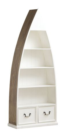 White Haven Solid Pine Timber Dinghy Boat Bookcase Nautical Furniture, Rustic Furniture, Boys Nautical Bedroom, Boat Bookcase, Dinghy Boat, White Haven, Pine Timber, Make A Boat, Kitchen Display