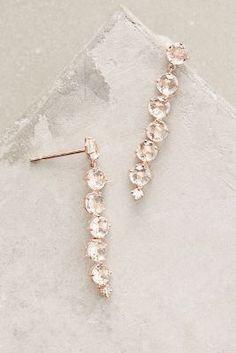 14k Rose Gold Starburst Earrings