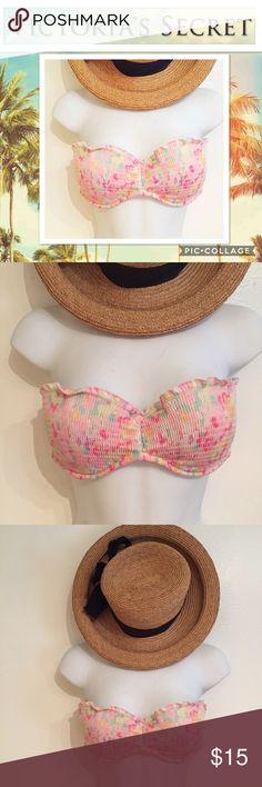 Victoria\'s Secret Colorful Strapless Bikini Top Victoria\'s Secret colorful Strapless bikini top. Size 34C. Perfect for spring break or vacation. Smoke free home. Victoria\'s Secret Swim Bikinis
