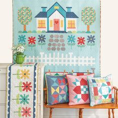 Did you know Lori Holt's Quilter's Cottage book comes with patterns for pillows too? And we've got the pillow forms you need for them! Come sew some pillows with us! Quilting Room, Longarm Quilting, Quilting Tips, Quilting Projects, Quilting Tutorials, Sewing Tutorials, Small Sewing Space, Sewing Spaces, Crochet Vixen