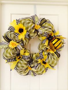 Kathy's Kreations Spring Wreath -  For more information regarding a Kathy's Kreations wreath, e-mail Kathy directly at KathysKreationsLLC@gmail.com or visit her facebook page - https://www.facebook.com/KathysKreationsLLC