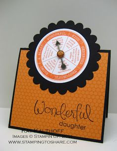 2/22 Stampin' Up! Take a Spin Tent Topper