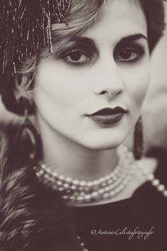 Back to the 20s campaign. #20s #blackandwhite #makeup