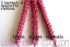 School Crochet: how does the Romanian Spighetta triple 3D video tutorial
