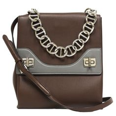 Prada Soft Cacao Brown Calf Leather with Silver Chain Designer Shoulder Bag for Women – Jewelry & Gifts Trendy Handbags, Handbags On Sale, Purses And Handbags, Coach Handbags, Prada Bag, Prada Handbags, Leather Handbags, Burberry Handbags, Women's Crossbody Purse