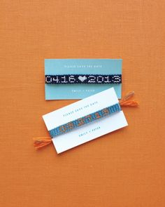 Friendship Bracelet Save-the-Date