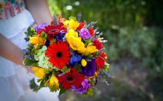 Beautiful bouquet with colors