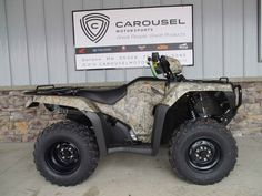 New 2016 Honda FourTrax® Foreman® 4x4 ES Power Steering ATVs For Sale in Minnesota. GET THIS NEW 2016 HONDA FOREMAN ES WITH POWER STEERING AND TOUGH CAMO FINISH NOW ON SALE FOR $ 7,595.00 AT CAROUSEL MOTORSPORTS IN DELANO. MSRP on this ATV model TRX500FE2G IS $8,499.00 + $350.00 FREIGHT. The Honda Foreman is a strong, rugged do-it-all, whether it's on your favorite trail, the ranch, or the farm. This Honda Foreman features Honda's tough and great looking camo finish. Foreman is all-new…