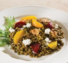 Lentils with Beets, Walnuts and Goat Cheese Goat Cheese, Beets, Lentils, Acai Bowl, Salads, Breakfast, Recipes, Food, Acai Berry Bowl