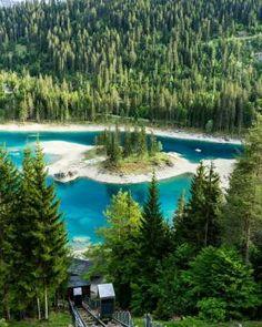 Caumasee Graubünden                                                                                                                                                                                 Mehr #Traveldestinations
