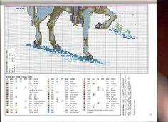 Solo Patrones Punto Cruz 1/3 Santa and Horse