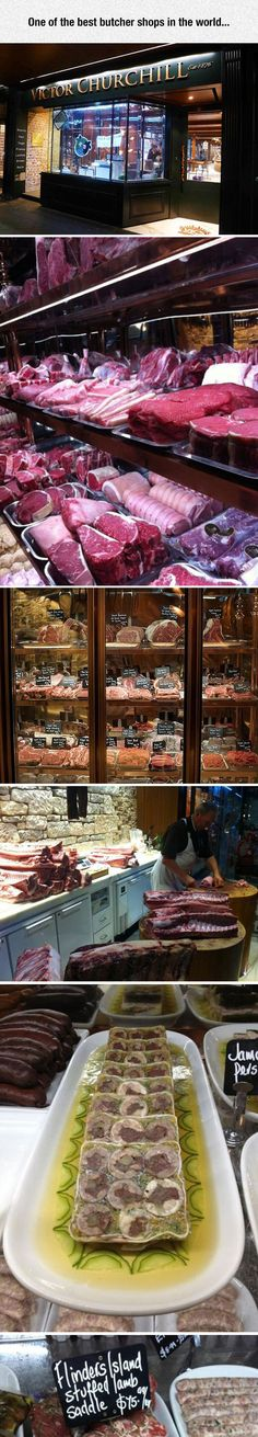 Victor Churchill Butcher Shop In Sydney - wish I'd found this on my trip there, amazing looking