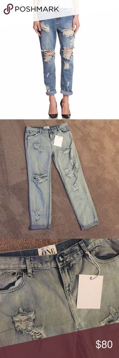 NWT One Teaspoon Jeans New with tags One Teaspoon jeans brave freebies style in a light wash. 🤘🏻 One Teaspoon Jeans