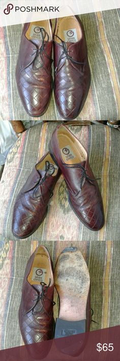 "GRAN EMYCO OXBLOOD WOVEN LEATHER OXFORDS 4 EYELET LACE CLOSURE, LEATHER LINED, LEATHER OUTSOLE, """"TOTALLY AWESOME"""" MINIMAL SIGNS OF WEAR GRAN EMYCO Shoes Oxfords & Derbys"