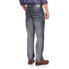 Faded Glory Men's Embellished Denim (Blue) Jeans, Size: 32 x 34