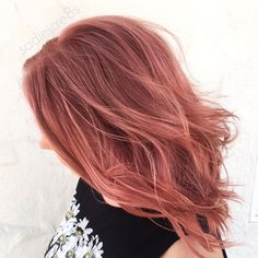 """Throwin' it back all day today for #throwbackthursday •ANTIQUE ROSE• was the Colour of mine that caught the attention of @american_salon And I got my…"""