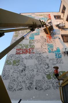 Mayamural /// Day 3- 8 dec 2012 - part 3 #streetart #graffiti #maya #krakow