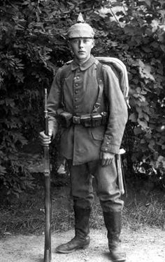 German soldier boy, ready to march