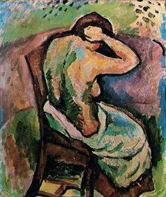 BRAQUE Seated woman, 1907