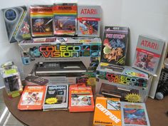 1982 Colecovision System w/donkey kong & Expansion Module  11 Games In Box  #Coleco