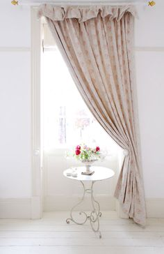 Curtain in Georgian Roses by Peony & Sage