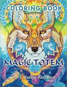 Amazon.com: Magic totem: Coloring Book for Grown-Ups, Adult. Beautiful decorative animals, birds, flowers (9781532931871): Nadiya Vasilkova, Veniamin Skorodumov (Vensk: Books